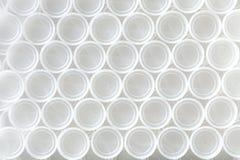 Tapónes blancos Fotos de archivo