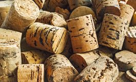 Tapónes del corcho para las botellas de vino Fotos de archivo