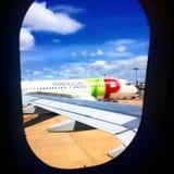 TAP Πορτογαλία αεροπλάνων Στοκ Εικόνες