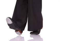Tap Dance. Woman performing a movement of Tap Dance Stock Photos