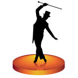 Tap dancer. The man in a hat dances tap-dancing Royalty Free Stock Photography