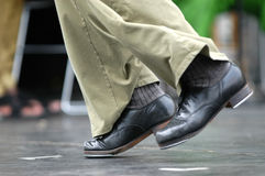 Tap dancer 2. Dancer in old tap shoes Stock Image