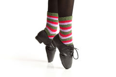 Tap Dancers Feet en Pointe Stock Image