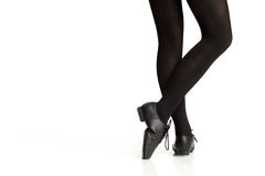 Tap Dancers Feet Pointing Toe Stock Photography
