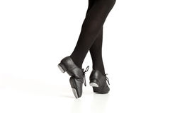 Tap Dancer's Feet Pointing Toe Royalty Free Stock Photos