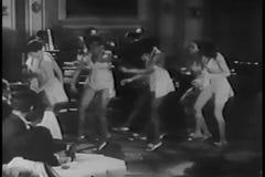 Tap dancers performing in nightclub, 1930s stock footage