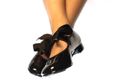 Tap dancing girl. Girl's wearing tap dance shoes Royalty Free Stock Image