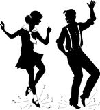 Tap Dancing silhouette Stock Photos