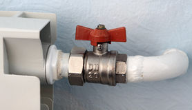 Tap of domestic heating Stock Image