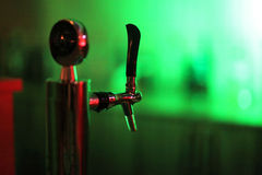 Tap draft beer tower Stock Photography
