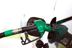 Tap for gasoline a gas station Royalty Free Stock Images