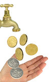 Tap Hand Money Royalty Free Stock Photo