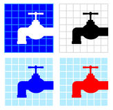 Tap icons Royalty Free Stock Image
