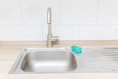 Tap kitchen sink. Cape chrome stock photo
