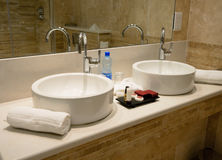 Tap and marble sink Stock Image