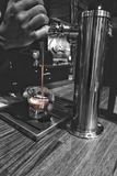 Tap the nitro coffee. For the love of cold coffee Royalty Free Stock Photos