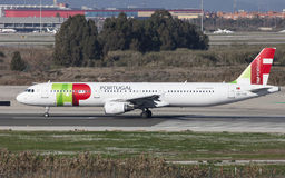 TAP Portugal Airbus A321 Taxiing Stock Photography