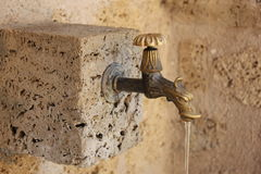 Tap with running water Royalty Free Stock Images