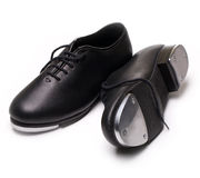 Tap shoes. On a white background Royalty Free Stock Photos