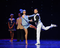 Tap-tap-Retro dance-the Austria's world Dance Royalty Free Stock Photos