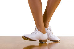 Tap-Top/Clog Dance Front And Side Steps. Close up, on white Royalty Free Stock Photo