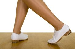 Tap-Top/Clog Dance Poses And Movements Royalty Free Stock Photos