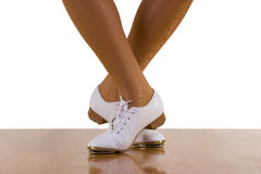 Tap-Top Dance Steps. Tap-top/Clog dance steps; on white Stock Photo