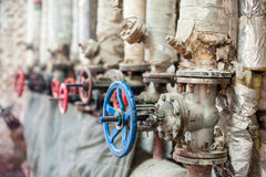Tap valve at the factory. concept Industries.  Royalty Free Stock Images
