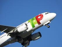 TAP Vliegtuig Royalty-vrije Stock Afbeeldingen