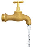 Tap with water stock images
