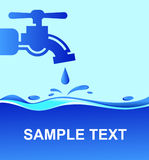 Tap and water. Vector illustration Royalty Free Stock Photography