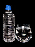 Tap water and bottled spring water Stock Photo