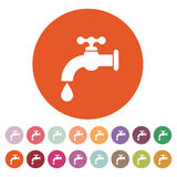 The tap water icon. Water symbol. Flat Stock Image
