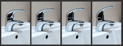 Tap water phases Stock Image