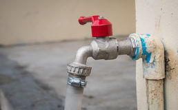 Tap water and PVC pipe the value of water.  stock images
