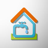 Tap water. Stock illustration. Royalty Free Stock Photography