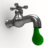 Tap on white background Royalty Free Stock Photo