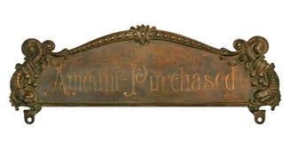 Tapa antigua de la caja registradora Imagen de archivo