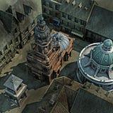 Tapa barroca de la azotea de la ciudad stock de ilustración