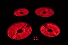 Tapa de cerámica de la estufa Imagen de archivo