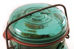 Tapa de cristal del tarro Foto de archivo libre de regalías