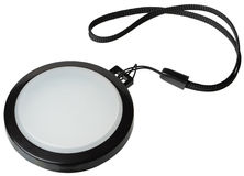 Tapa de filtro blanca de la lente de la balanza Imagenes de archivo