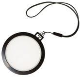 Tapa de filtro blanca de la lente de la balanza Imagen de archivo
