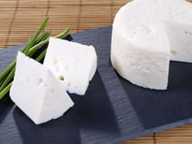 Tapa de fromage frais. Photographie stock