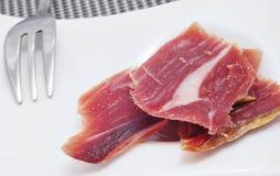 Tapa de jambon de Serrano Photo stock