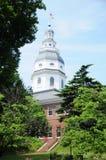 Tapa de la casa del estado de Maryland en Annapolis, MD Foto de archivo