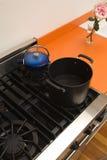 Tapa de la estufa del horno de arriba foto de archivo libre de regalías