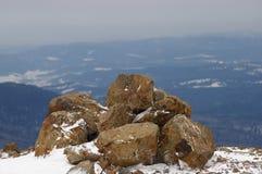 Tapa de la montaña imagenes de archivo