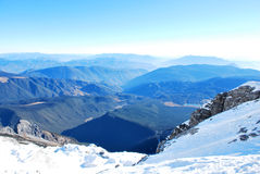 Tapa de la montaña de la nieve del dragón del jade Fotografía de archivo libre de regalías