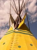 Tapa de la tienda de los indios norteamericanos Fotografía de archivo libre de regalías